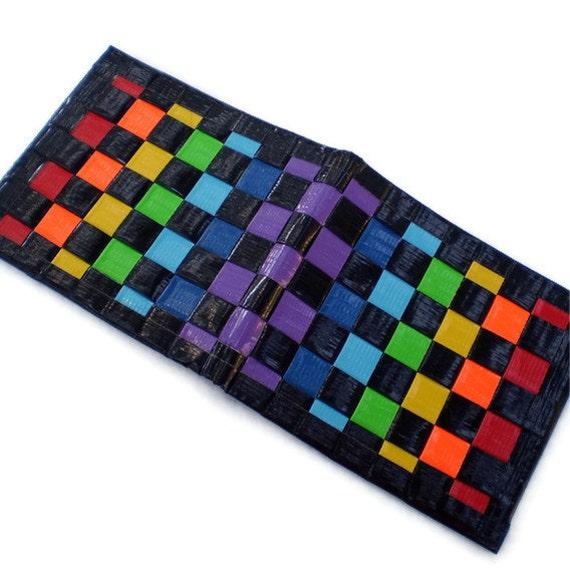Duct Tape Wallet - Double Rainbow Purple