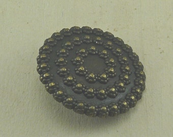 Tirana Antique Brass Dotted Domed Dimensional Button  C28