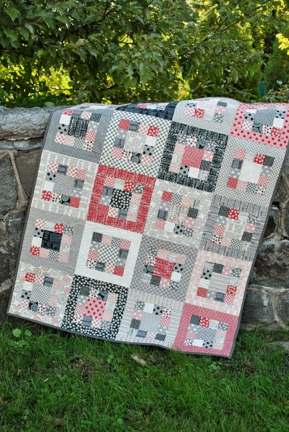 QUILT PATTERN.... Easy... one jelly roll ... Market Square
