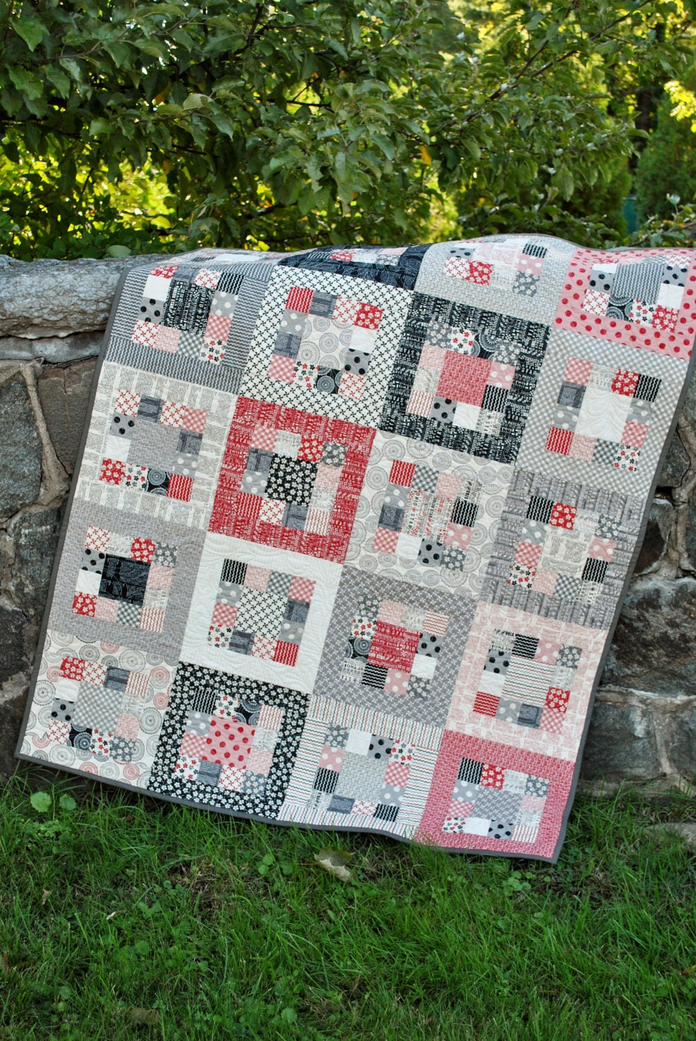 Quilting Patterns On A Roll : QUILT PATTERN.... Easy... one jelly roll ... Market Square
