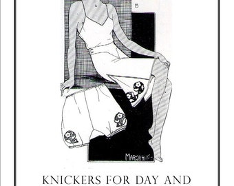 Day and Evening Knickers 1933 French Knickers to your own Measurements Sewing Pattern pdf