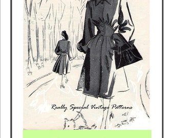 Purse Bag Pattern Town or Travel Handbag 1947 PDF Sewing Pattern Instructions