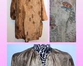 1960s Silk Blouse - Hostess/Lounge Blouse - Asian Print - L/XL Was 15 now 7.50