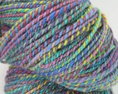 Hand Dyed, Handspun Yarn -- Random Joy -- BFL, Silk, 5.3 oz, 281 yards