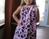 Girls Pillowcase Dress Cowgirl Princess Size 6 mt - 5 yrs