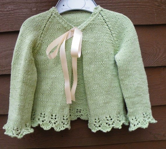 Knitting Pattern Cardigan Girl : Pevensey Little Girls Cardigan Knitting Pattern PDF