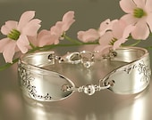 Silver Spoon Bracelet QUEEN BESS Jewelry Vintage, Silverware, Gift, Anniversary, Wedding, Birthday