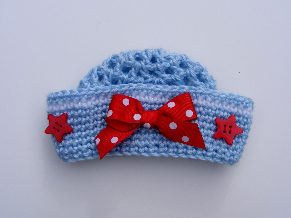 Little Sailor Crochet Hat Pattern Easy 8 Sizes Baby Crochet