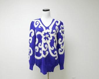CHRISTINE angora sweater . medium