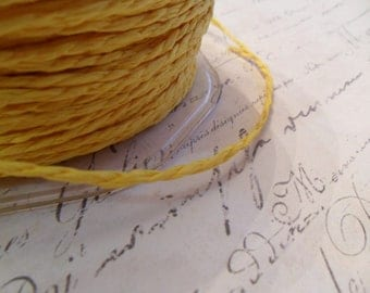 Lemon Yellow Paper Twine 1.5mm