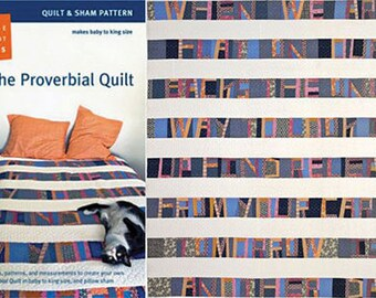 Denyse Schmidt PATTERN - The Proverbial - Quilt and Sham