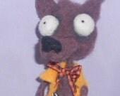 Werewolf needle felted art doll Original