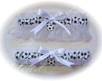 Soccer Themed Wedding Garter Set