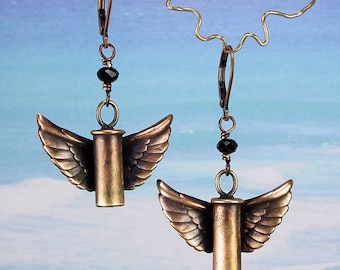 VICTORY WINGS - Winged 22 Bullet Cartridges with Black Crystal