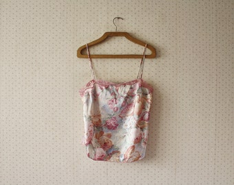 vintage 1980's colorful cherry and fruits lingerie top