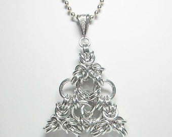Celtic Triangle Chainmaille Necklace Handmade