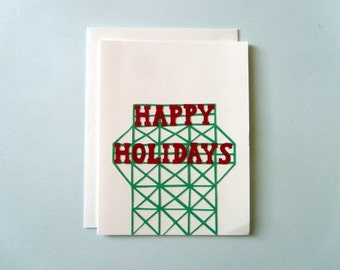 Kentile Floors Holiday - collage card