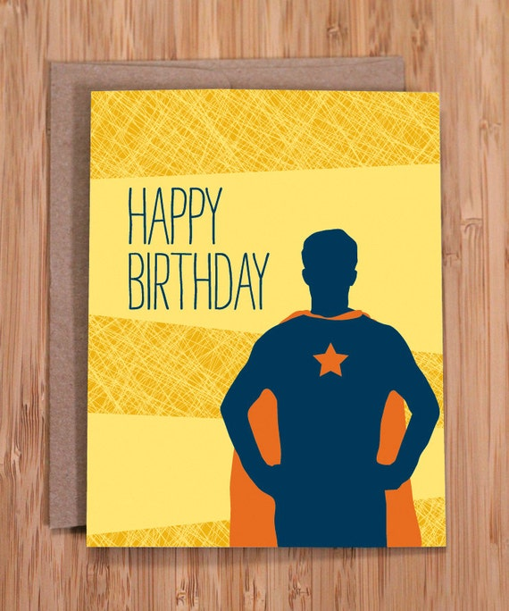 Funny Birthday Card / Super Guy / For Him