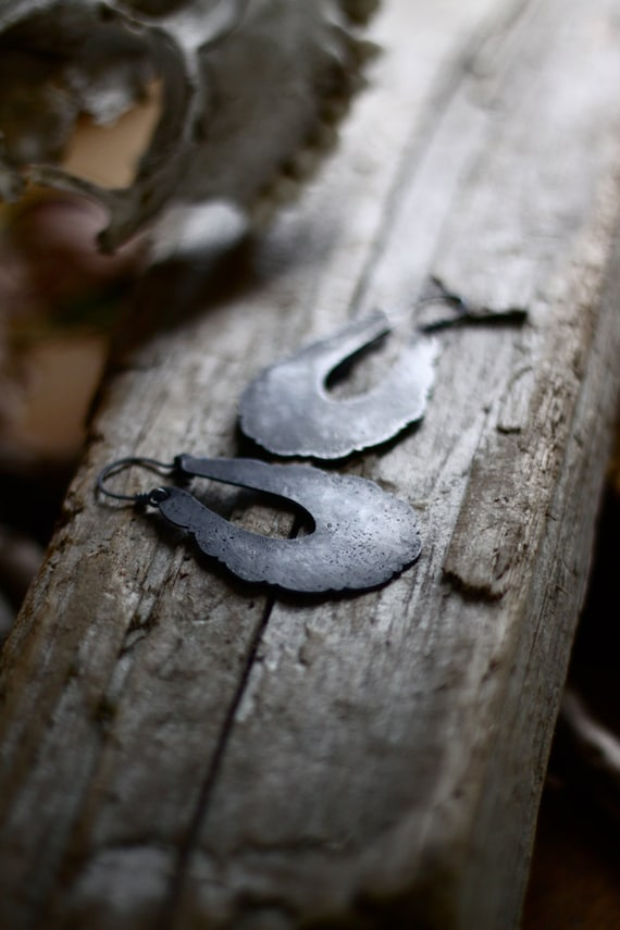 Black Lichen Earrings