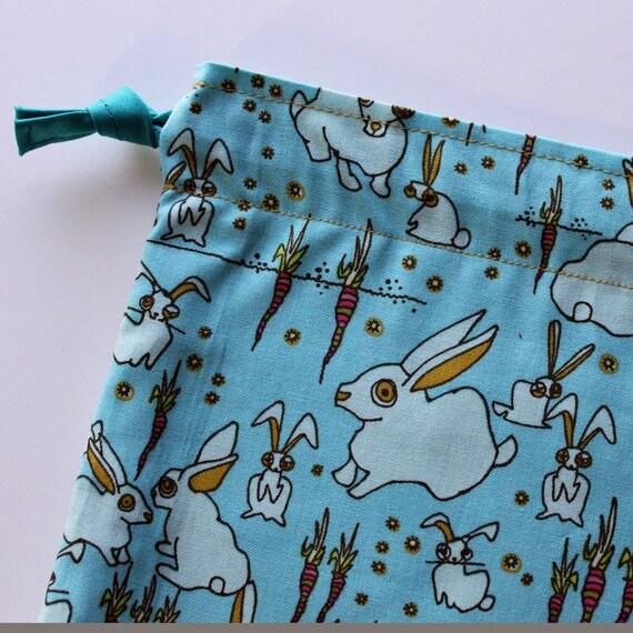 Sm Knitting Bag - Zombie Bunnies - New Fabric