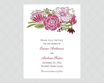 Flower Save the Dates
