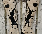 Primitive Kitty Cat Witch Paint Stencil Pumpkin Balloon Mylar For Pillows Fabric Wood Cloth Runners Boxes Craft Supply Stencils Kim Kohler