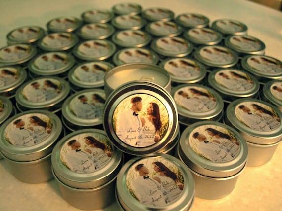 Candle Poem For Wedding Gift: Wedding Or Bridal Shower Favor Candles Travel Tin Gift Sample