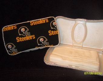 Pittsburgh Steelers Fabric Covered Baby Wipe Case