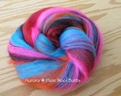 Aurora Merino Wool Drumcarded Fiber Batts for Spinning or Felting (4 oz)