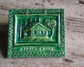 Green  Silent Night  Cabin tile