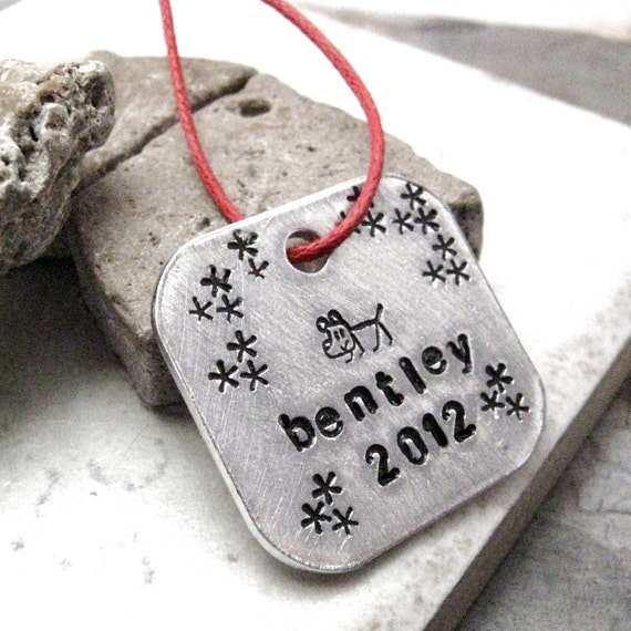Personalized Pet Ornament, customization available, see listing for specs, dog or cat stamp available