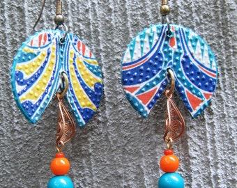 2 Sided Art Nouveau Earrings