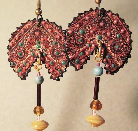 Oriental Rug Earrings B