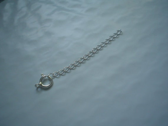 sterling silver spring ring clasp and extension chain one set