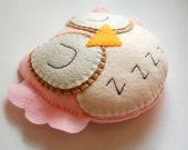 Shhhh...She is sleeping. Eco Friendly Plush Owl Stuffed Toy