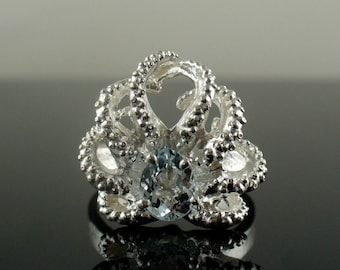SALE- Baby Octo Ring with Aquamarine