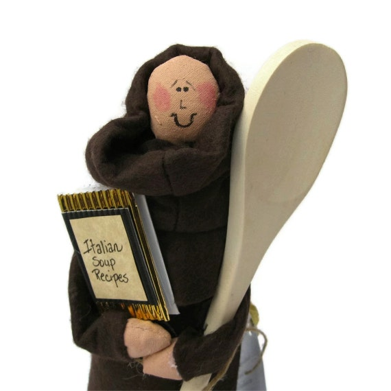 Monk doll brother Catholic gift -Souper Mario Brother the cook