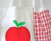 Jane Foster Scandinavian Retro Apple Shopper Bag Tote