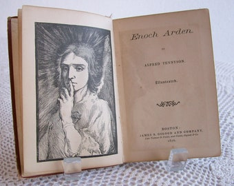 "Antique Book Alfred Tennyson ""Enoch Arden"" Ephemera Vest Pocket Series 1876"