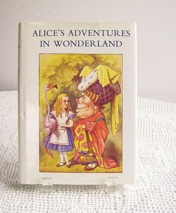 Vintage Alice in Wonderland Book Re Issue 1977 Lewis Carroll and Sir John Tenniel