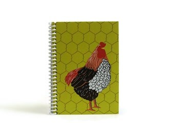 Hen - Notebook Spiral Bound - 4x6in