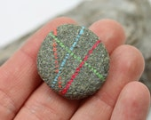 Alaska River Stone, Hand painted Magnet, Natural stone, Housewarming gift