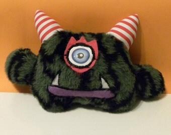 Lil' Cammo Monster named Pete - Plush - Art doll