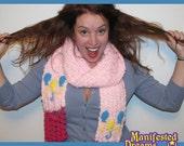 Pinkie Pie Scarf Balloon Cutie Mark - Crochet My Little Pony inspired