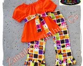 Custom Boutique Clothing Toddler Infant Baby Girl Halloween Pant Outfit Set Pumpkin Witch Ghost 3 6 9 12 18 24 month size 2T 3T 4T 5T 6 7 8