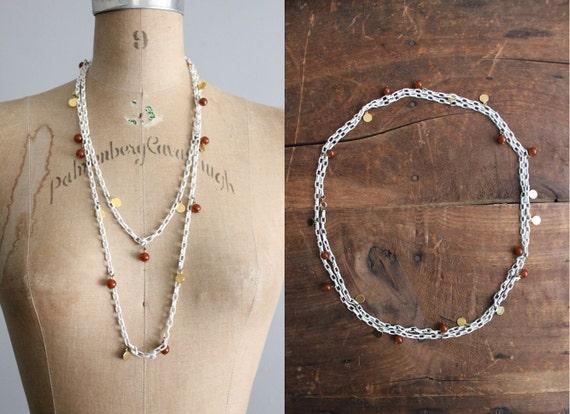 1960s vintage enamel chain necklace