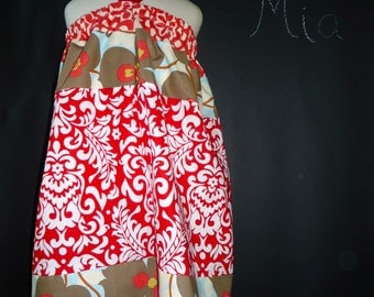 SAMPLE - 4th of July - Halter dress or top - Will fit Size 3T to 7 yr - by Boutique Mia - Ready To Ship