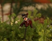 Fairy garden Christmas ... artisan glass reindeer for your fairy garden or terrarium ... Randloph ... by simply cindy