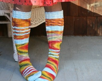 Fraternal Knee Socks PDF knitting pattern INSTANT DOWNLOAD