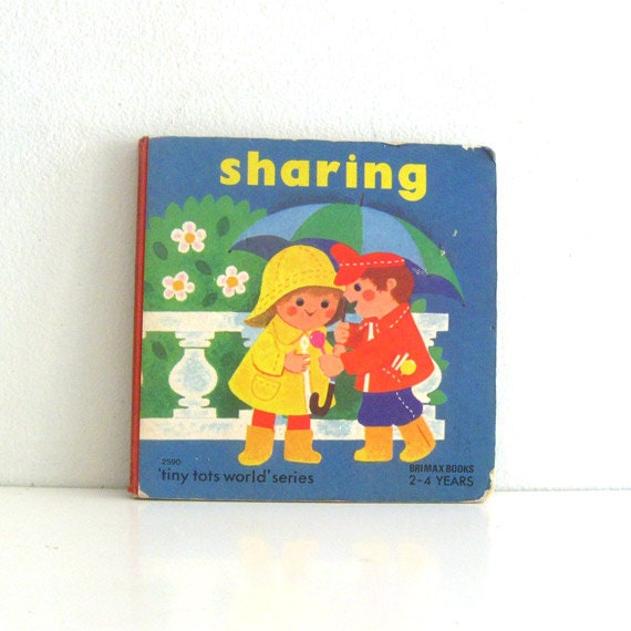 Vintage Childrens Book Tiny Tots Sharing